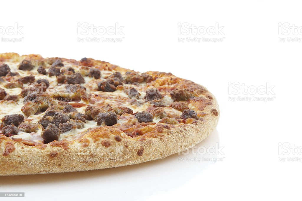 meat lovers pizza side royalty-free stock photo