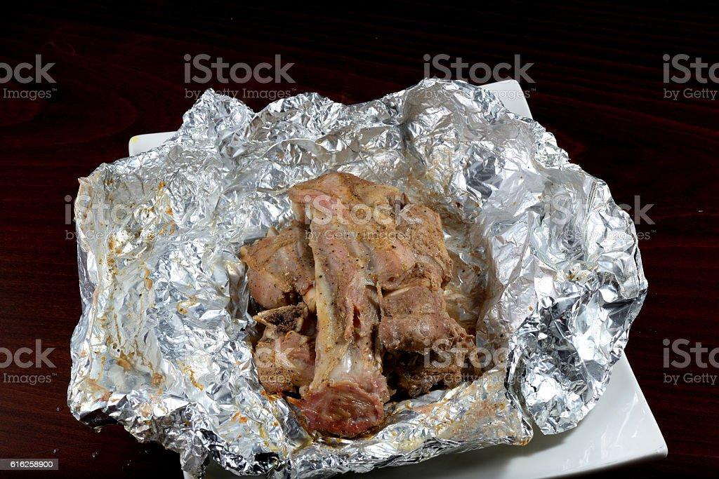 Meat madhfoon arabic traditional food stock photo