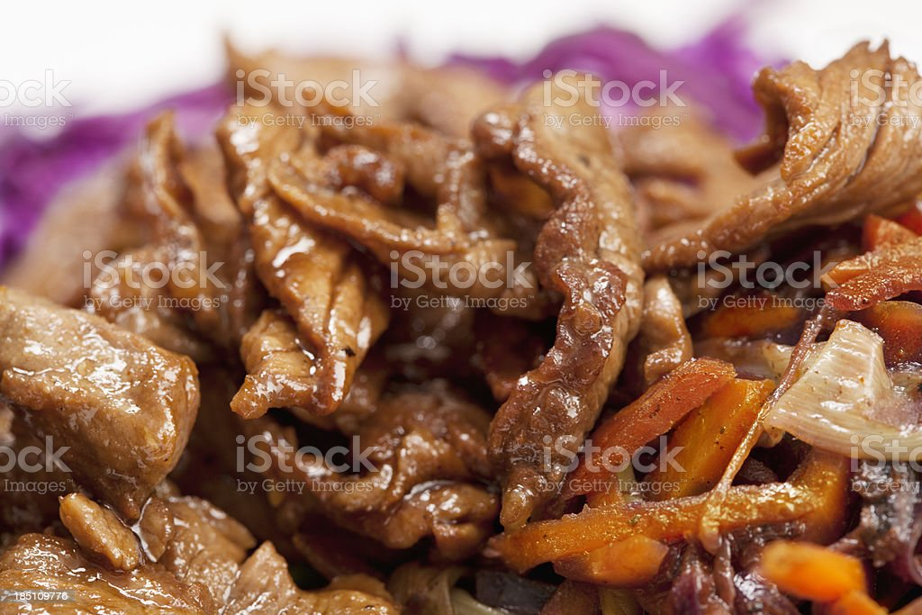 Meat meal stock photo
