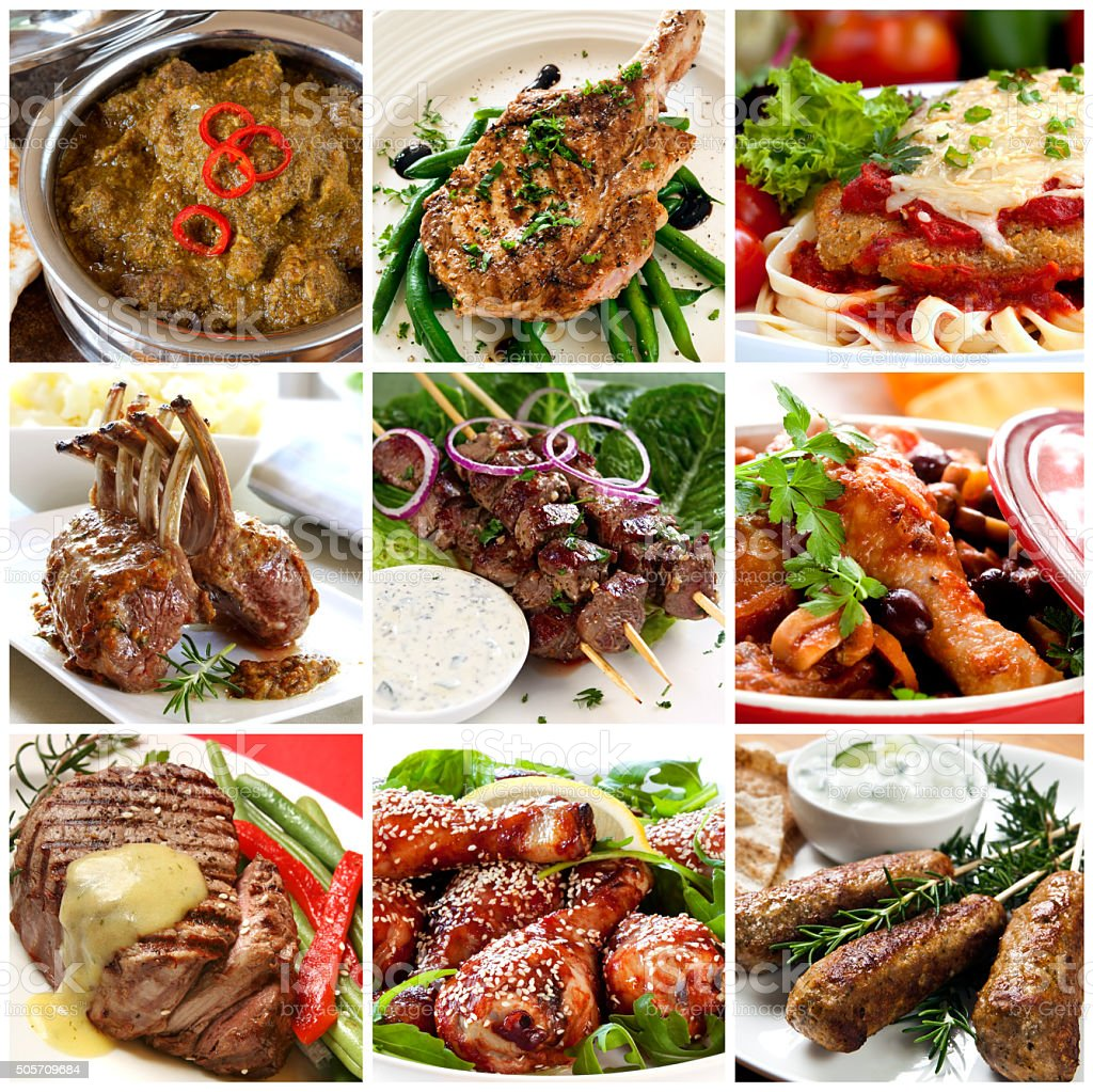 Meat Meals Collection stock photo