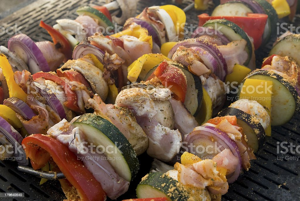 meat on grill , barbeque royalty-free stock photo