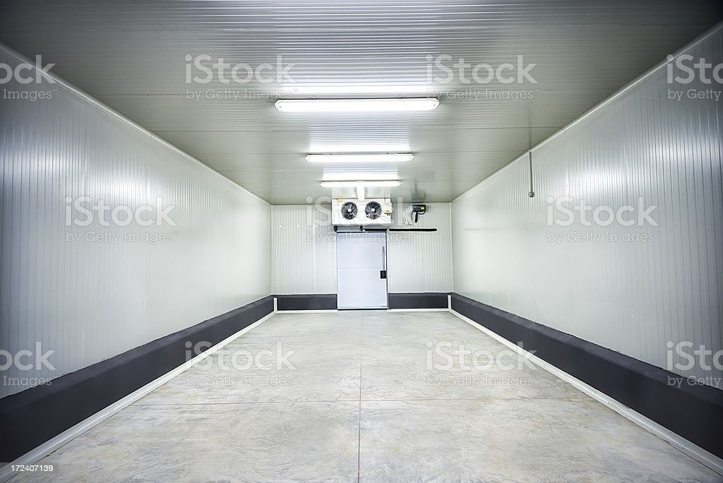 Meat or Fruit Storage at -30 Celcius stock photo