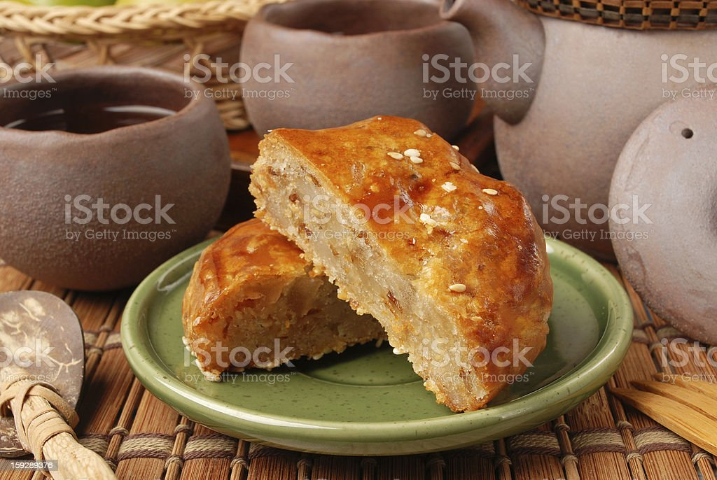 Meat pasties royalty-free stock photo