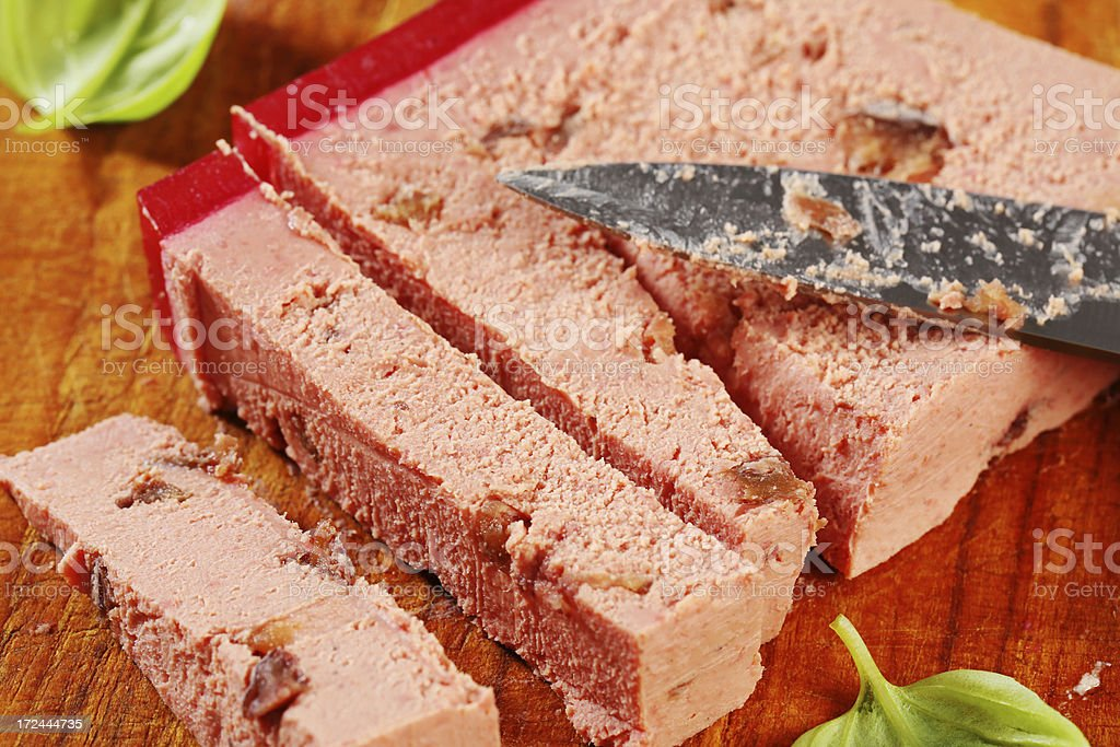 meat pate with cranberries and almonds royalty-free stock photo