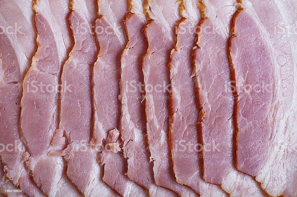 meat (ham, sausage, salmon) royalty-free stock photo