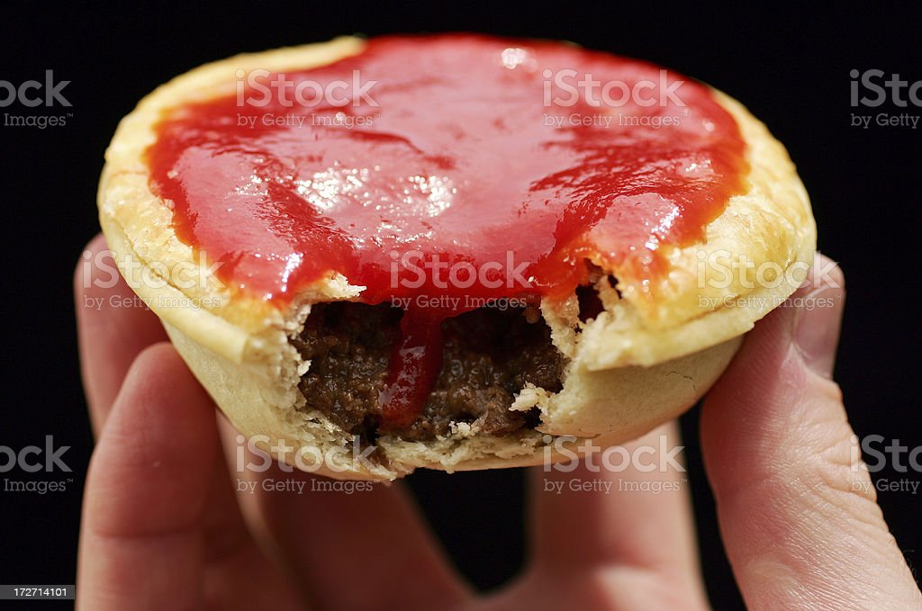 Meat Pie with Sauce stock photo