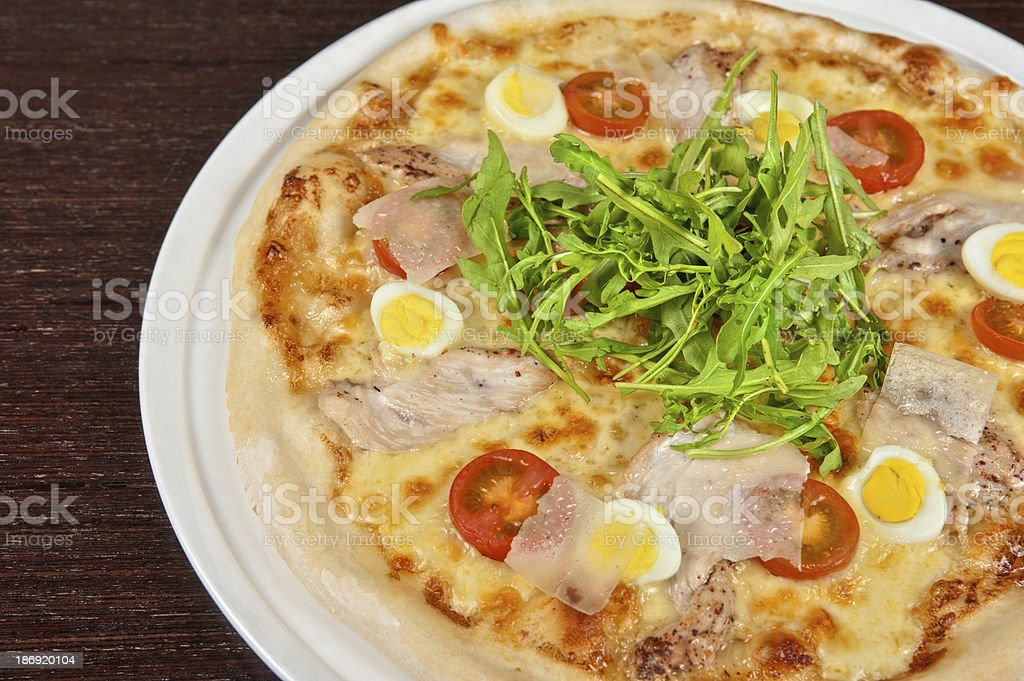 meat pizza royalty-free stock photo