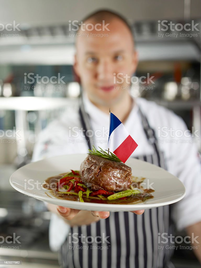 Meat Plate french cuisine stock photo