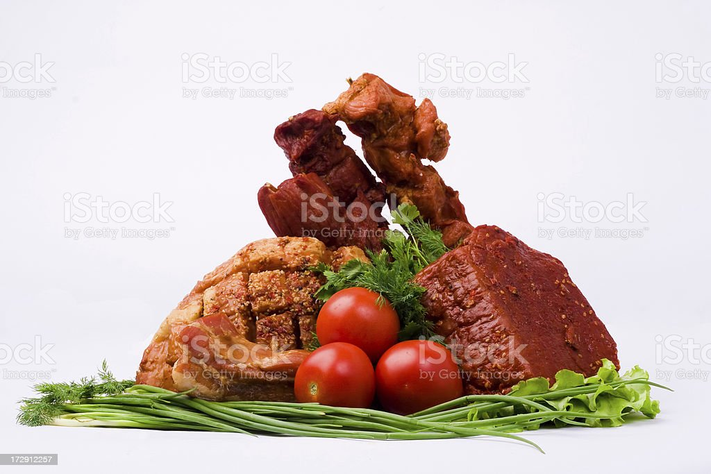 Meat products royalty-free stock photo