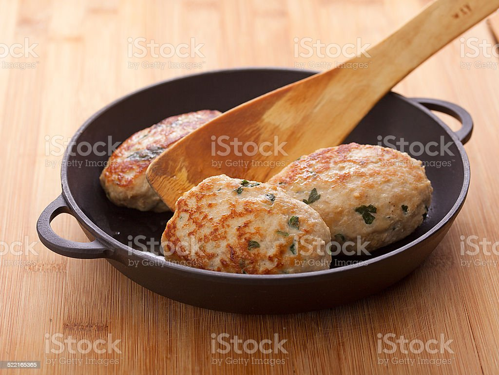 Meat rissoles stock photo