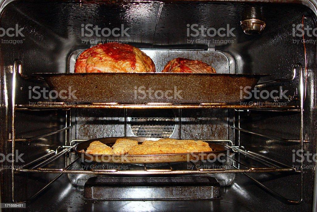 Meat roasting stock photo