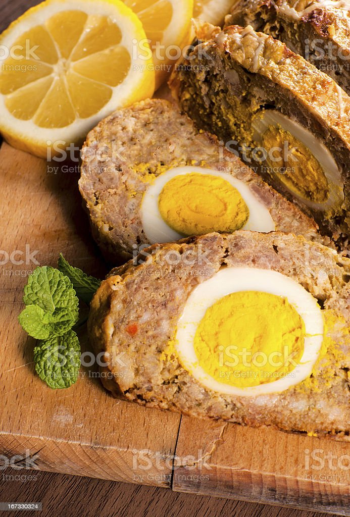 Meat roll royalty-free stock photo