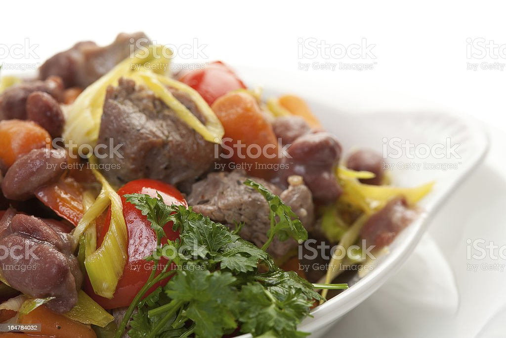 Meat salad stock photo