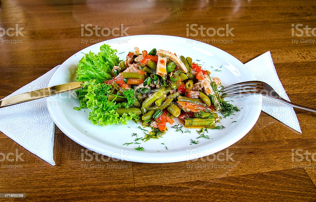 Meat salad royalty-free stock photo