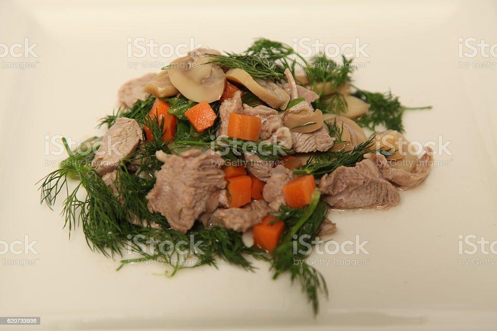 Meat Salad stock photo