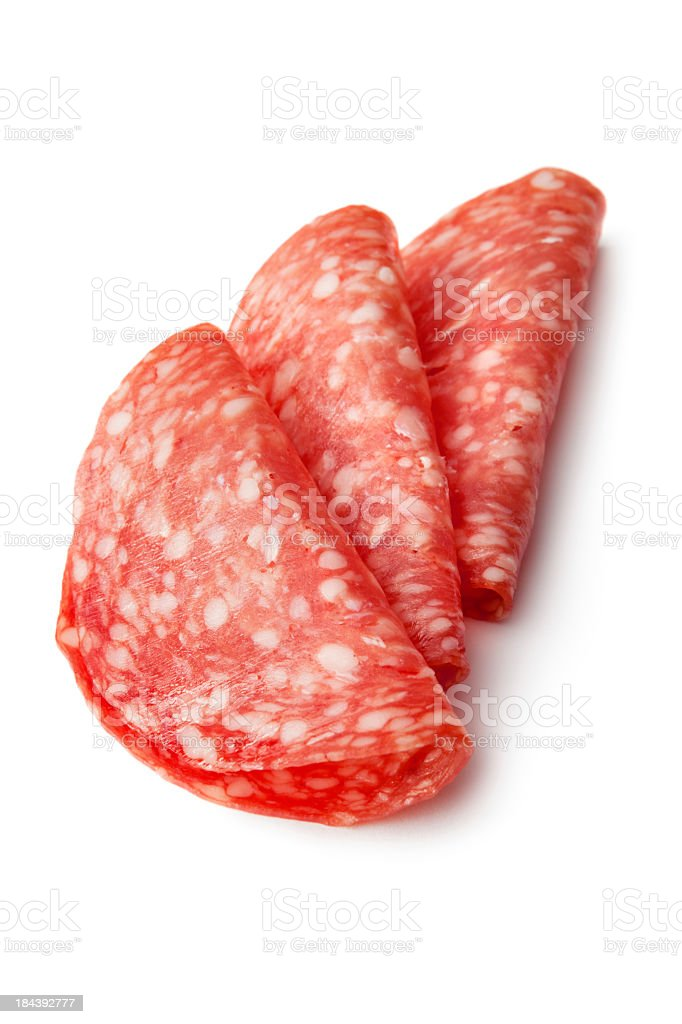 Meat: Salami stock photo