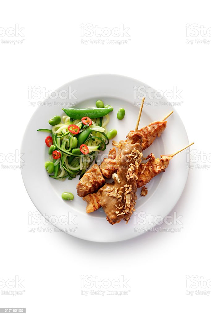 Meat: Satay stock photo