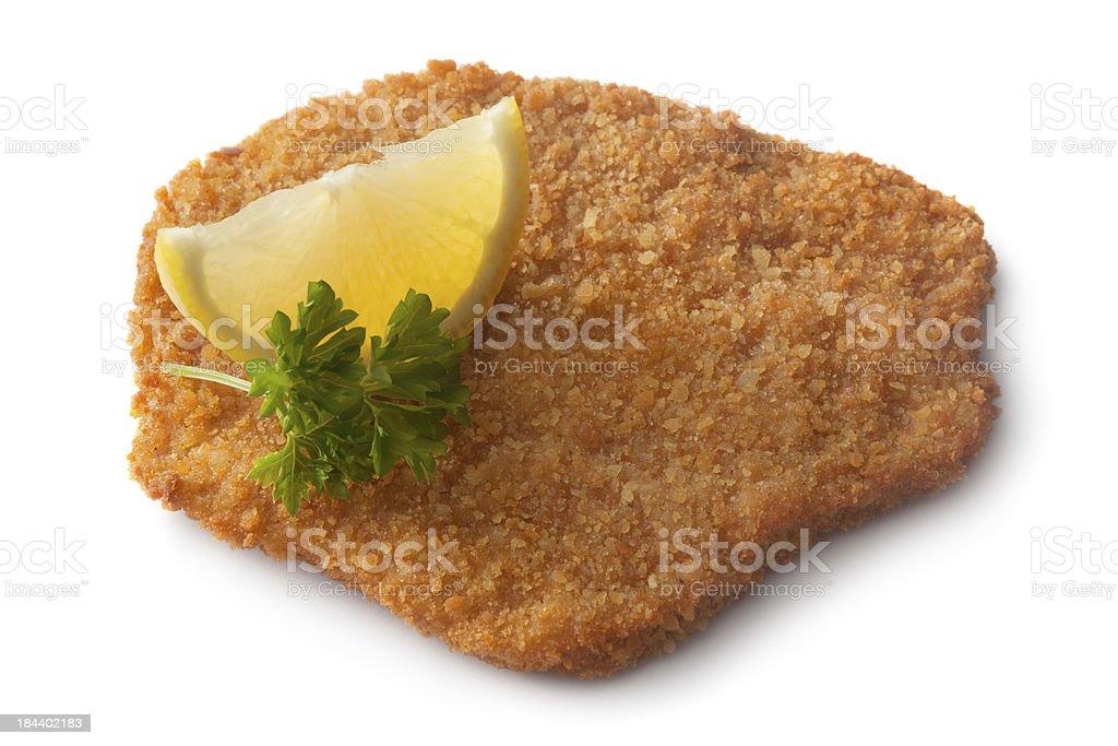 Meat: Schnitzel royalty-free stock photo