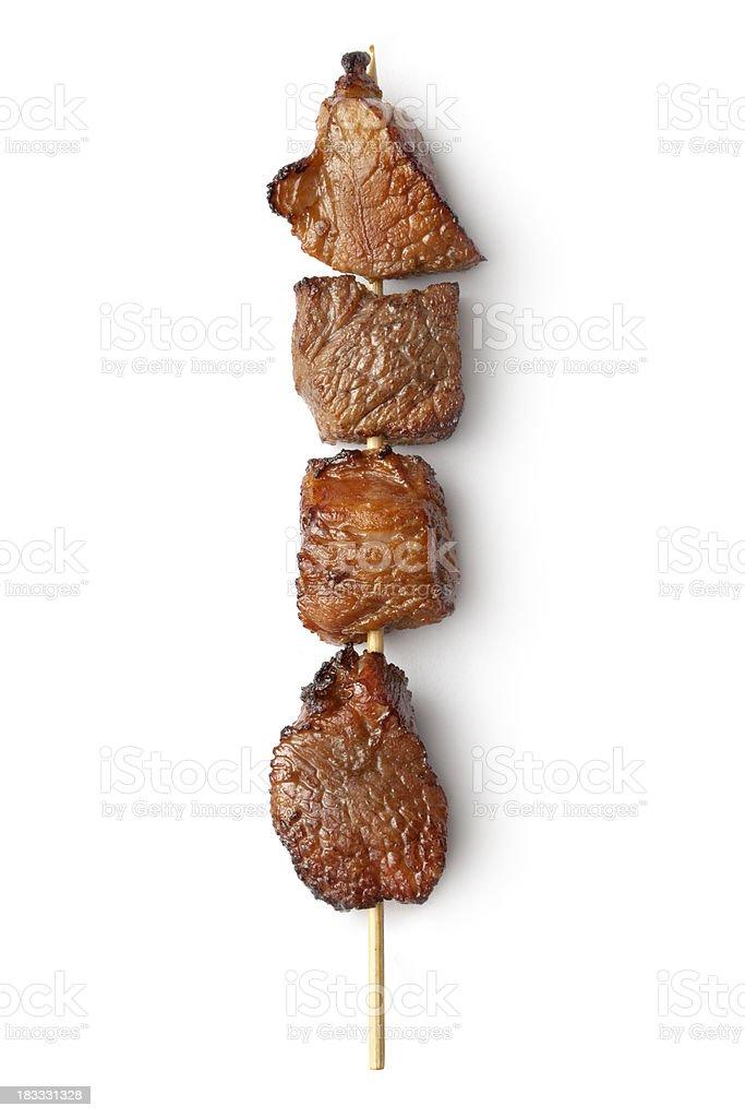 Meat: Skewer stock photo