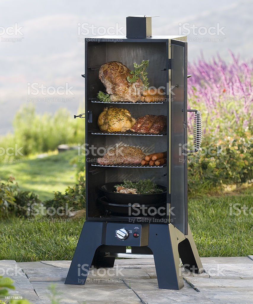 meat smoker stock photo