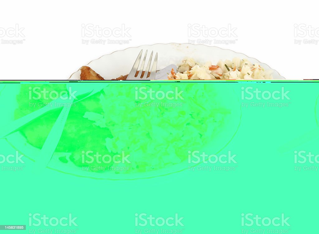 meat steak and vegetable salad royalty-free stock photo