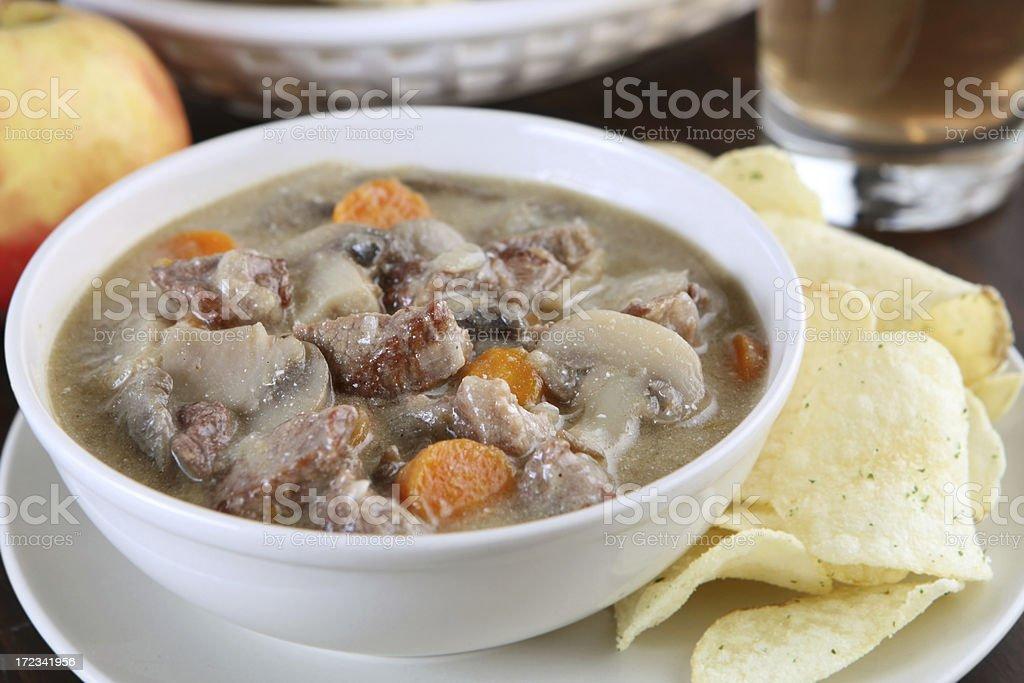 Meat stew - goulash stock photo