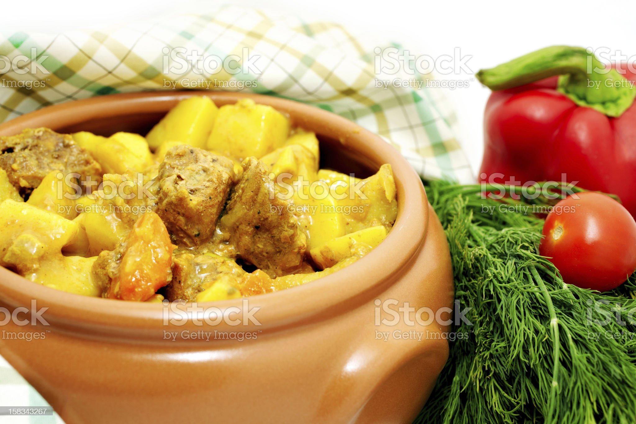 Meat stew with potato royalty-free stock photo