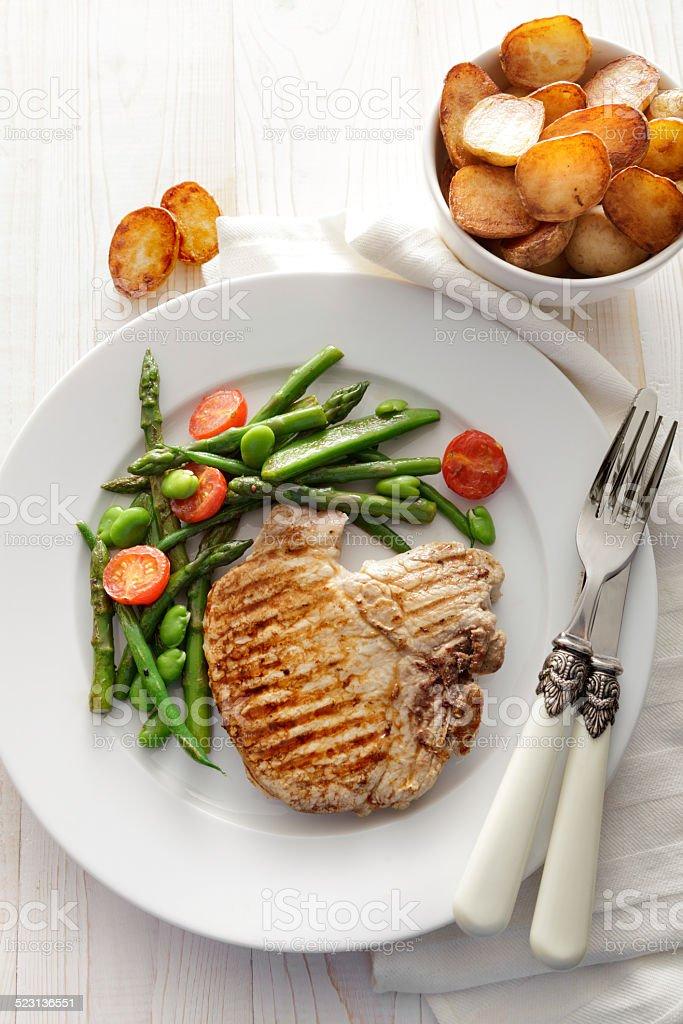 Meat Stills: Porc Cutlet stock photo
