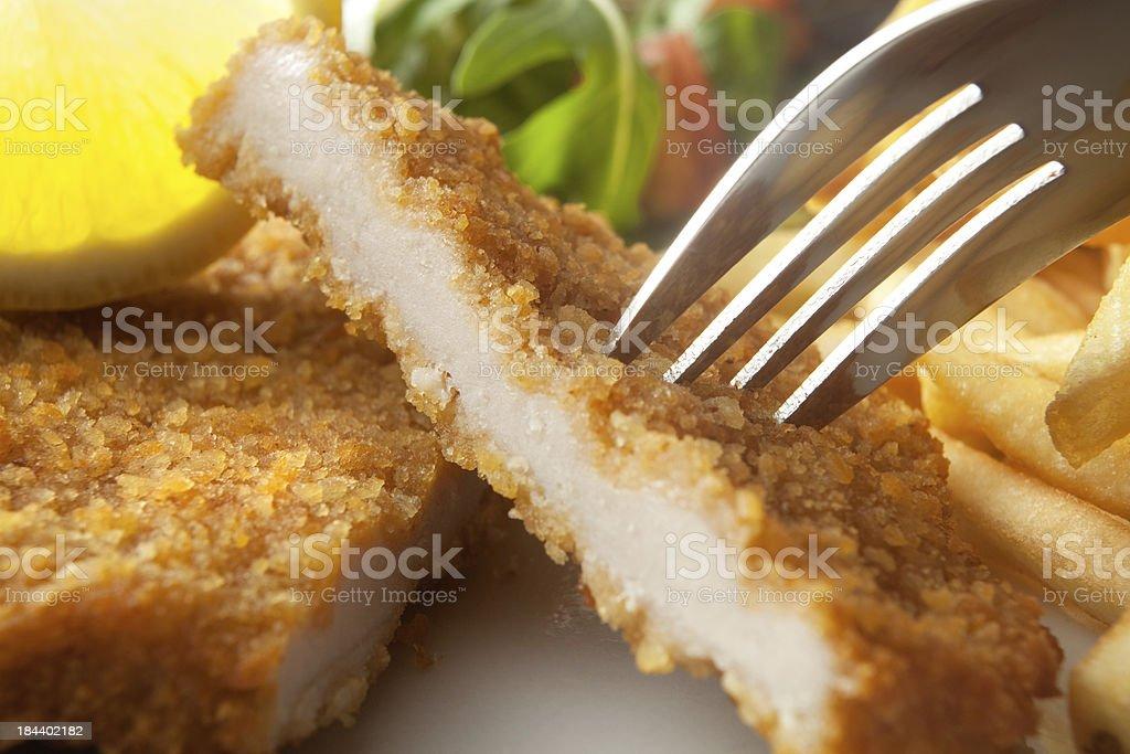 Meat Stills: Schnitzel stock photo