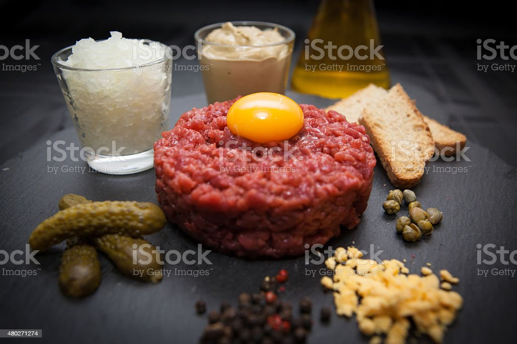 Meat tartare stock photo