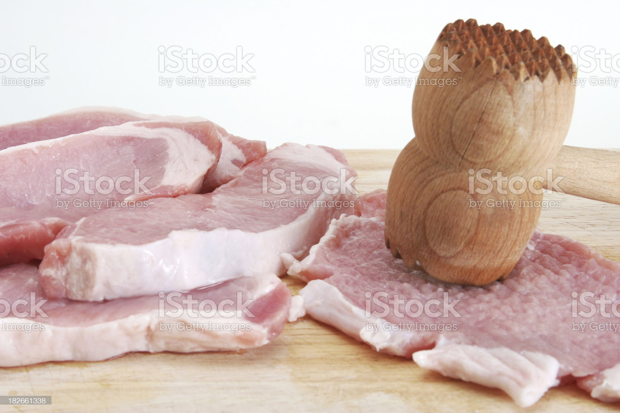 meat tendering royalty-free stock photo