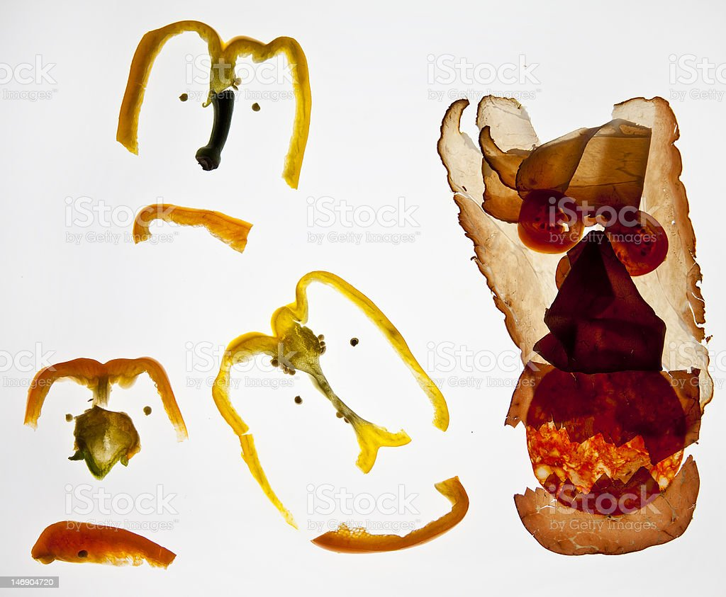 Meat & Veg Friends royalty-free stock photo