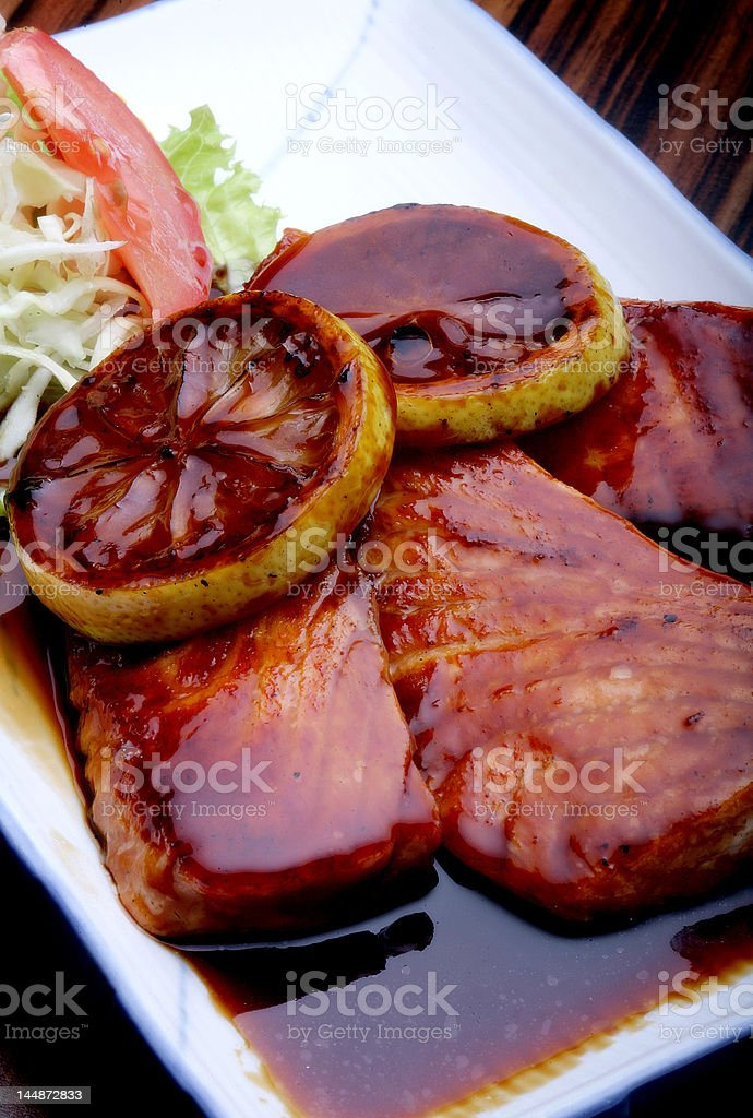 Meat with dressing royalty-free stock photo