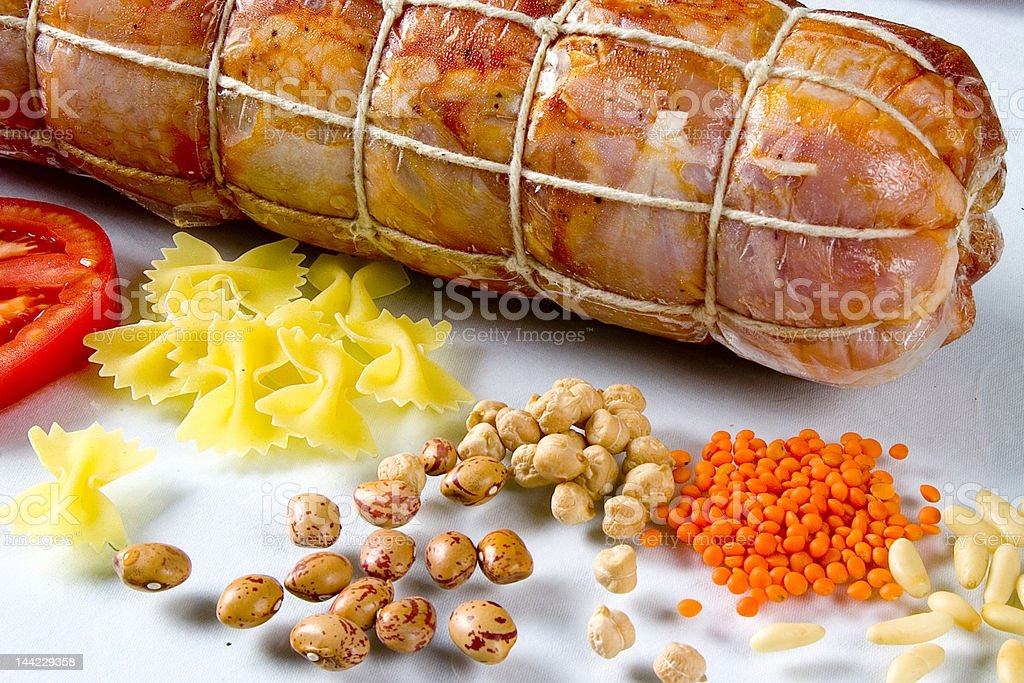 Meat with paper royalty-free stock photo