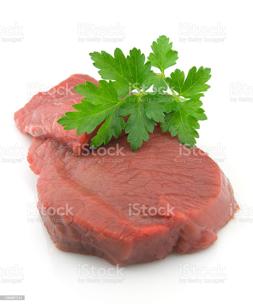 Meat with parsley royalty-free stock photo