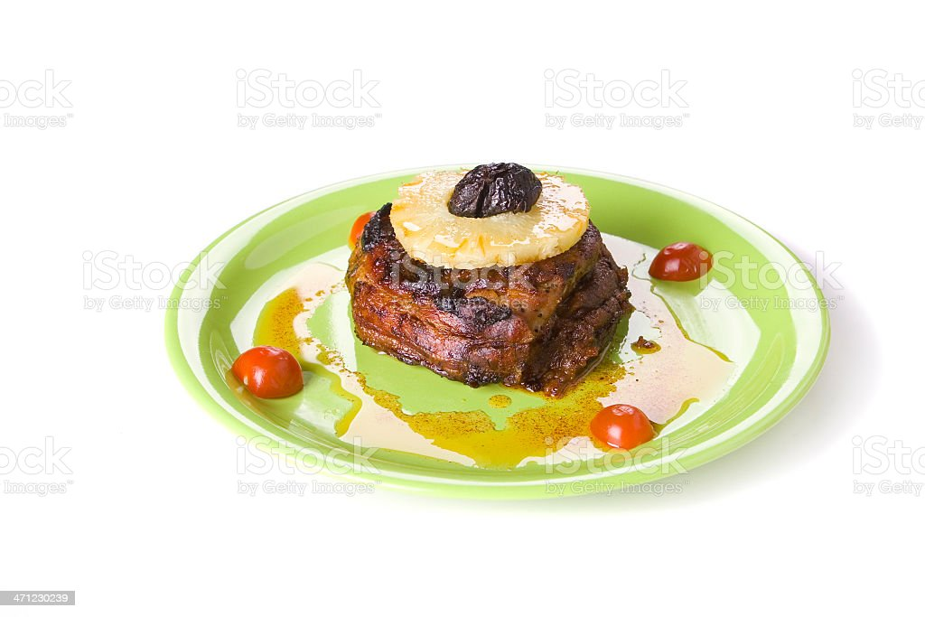 meat with pineappl royalty-free stock photo