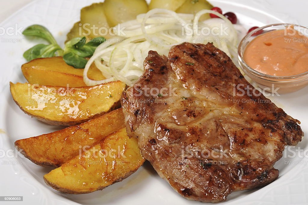 meat with  potato stock photo