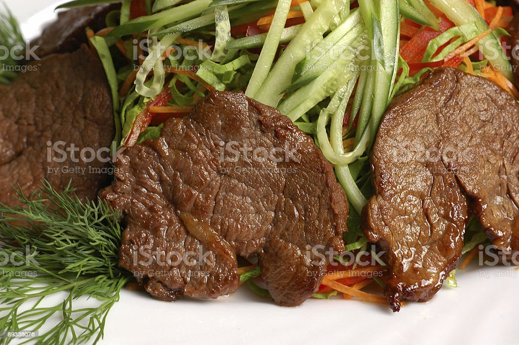 Meat with vegetable 5 royalty-free stock photo