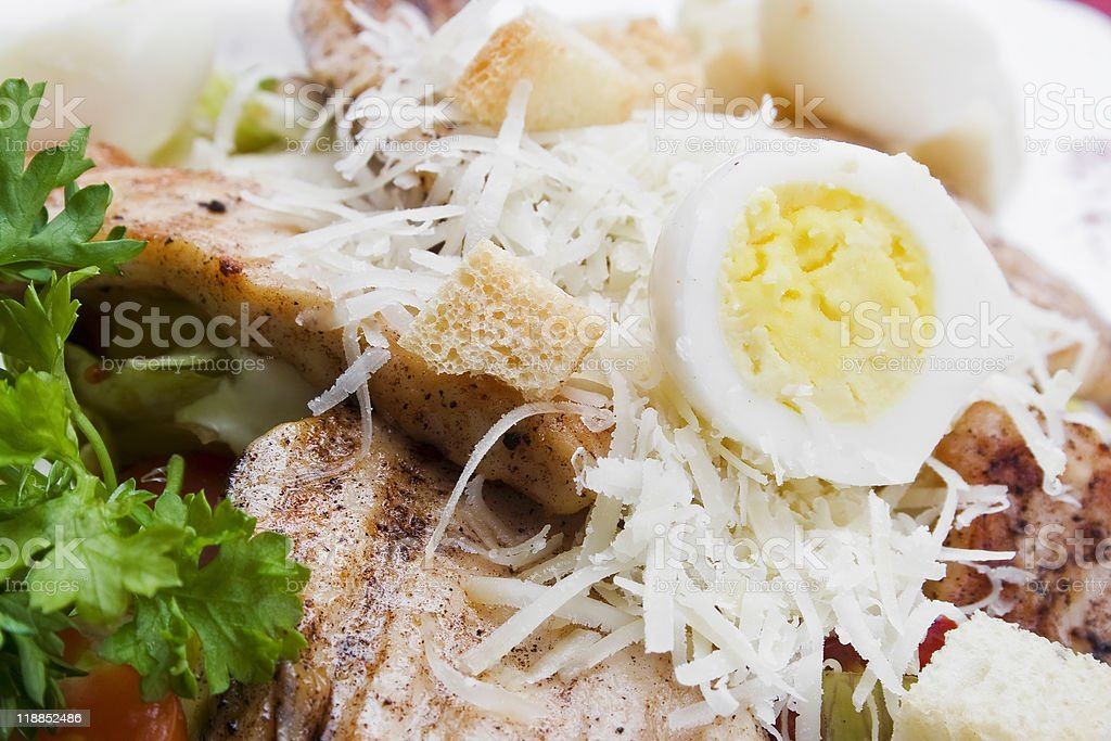 Meat with Vegetables and Greens stock photo