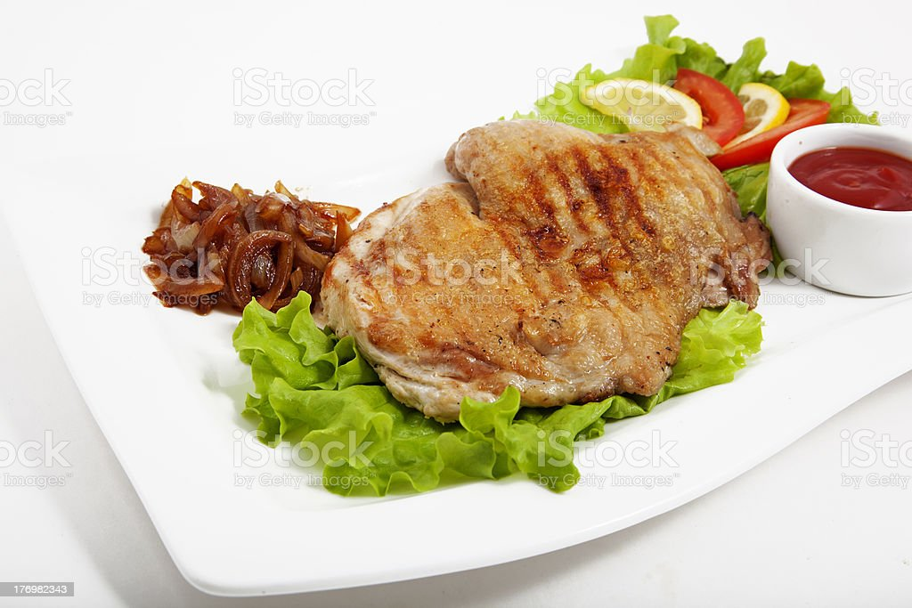 Meat with vegetables royalty-free stock photo