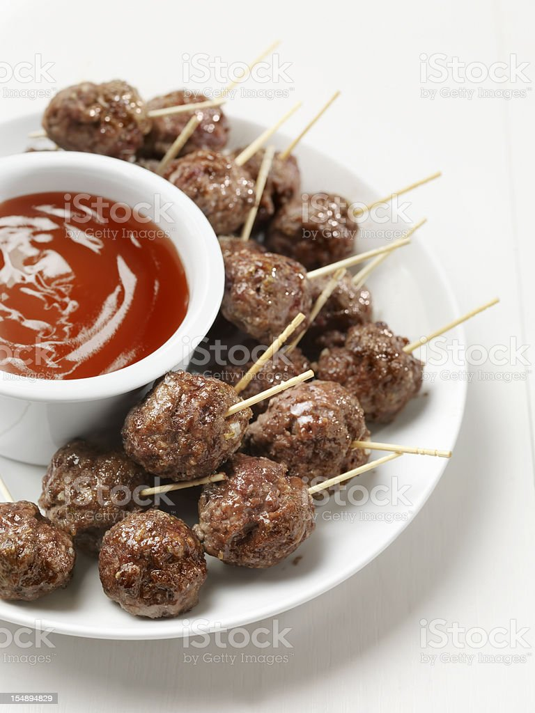 Meatball Appetizers stock photo