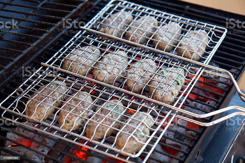 Meatball BBQ stock photo