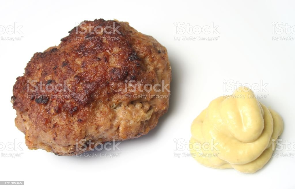 Meatball (Bulette) royalty-free stock photo