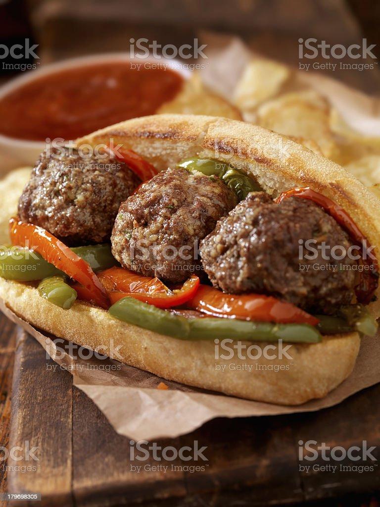 Meatball Sub royalty-free stock photo