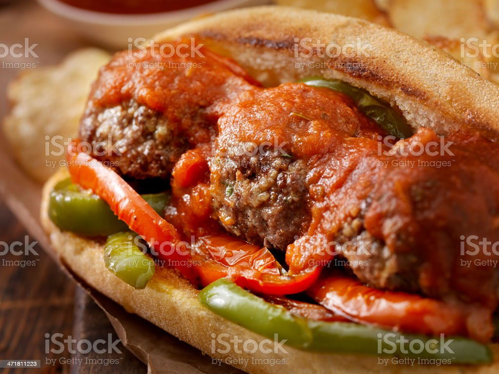 Meatball Sub royalty-free stock photo