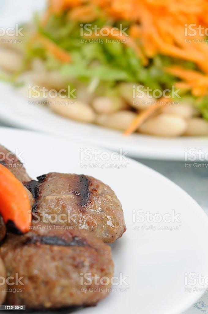 Meatballs and Salad / Turkey stock photo