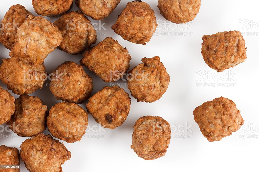 Meatballs from above stock photo