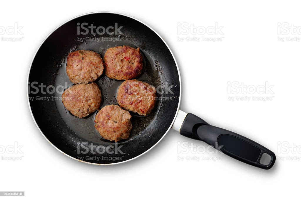 Meatballs in a Pan stock photo