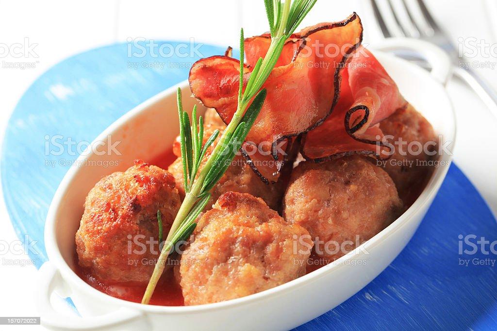 Meatballs in tomato sauce royalty-free stock photo