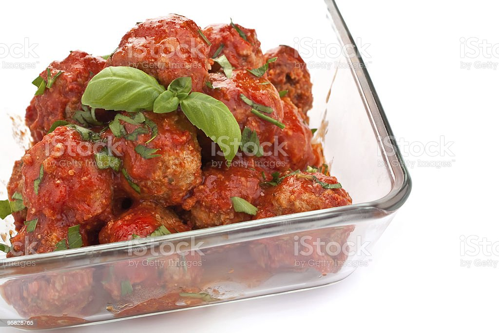 meatballs in tomato sauce royalty-free stock photo